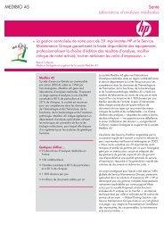 Laboratoire d'analyses médicales MEDIBIO - Hewlett-Packard ...