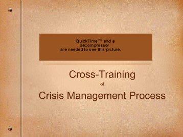 Cross-Training Crisis Management Process - Natrona County Schools