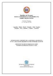 reporte de la Presidencia Pro Témpore saliente - Acnur