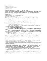 Digital Media Projegra Advisory Committee Minutes October 5, 2011 ...