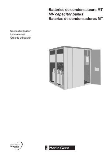 Batteries de condensateurs MT MV capacitor ... - Schneider Electric