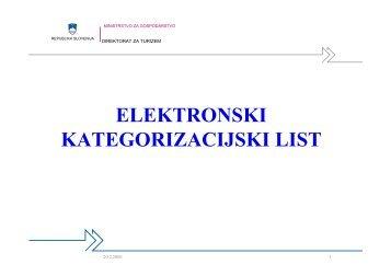 ELEKTRONSKI KATEGORIZACIJSKI LIST