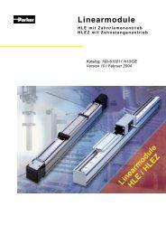 HLE œ Linearmodule mit Zahnriemenantrieb - MACCON GmbH