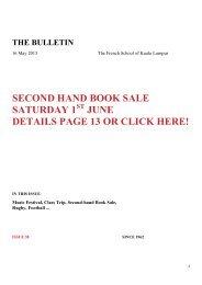 Translation Bulletin 16/05/13 - Lycée Français Kuala Lumpur