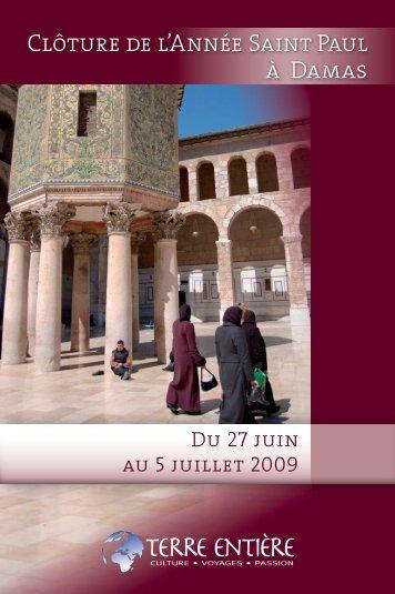 Clôture de l'Année Saint Paul à Damas - Terre Entière