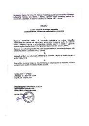 Odluka o visini naknade za uslugu provedbe administrativne ...