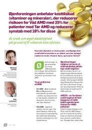 vitaminer og mineraler - Øjenforeningen Værn om Synet