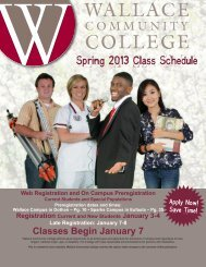 Spring 2013 Class Schedule - Wallace Community College