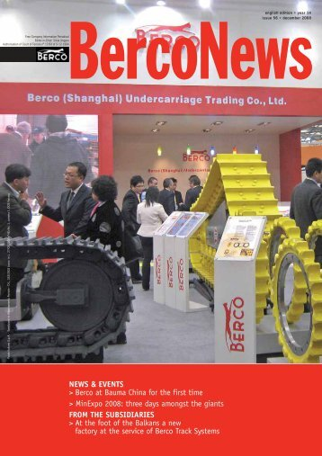 NEWS & EVENTS > Berco at Bauma China for the first ... - Berco S.p.A
