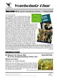 BULLETIN 1-08-1 - Vogelschutz Chur