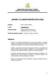Programa España y Unión Europea Primavera 2013