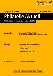 Ausgabe 02 - 2009 16. Januar 2009 - Deutsche Post - Philatelie