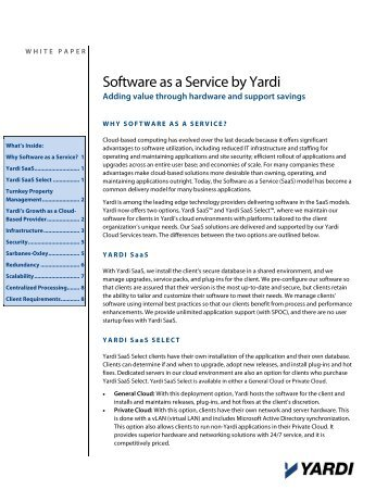 Software as a Service by Yardi