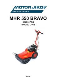 MHR 550 BRAVO - motor jikov group