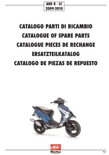 catalogo parti di ricambio catalogue of spare parts ... - Betamotor