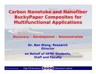 Carbon Nanotube and Nanofiber BuckyPaper Composites for ...