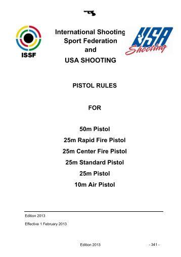 USA Shooting Pistol Rules