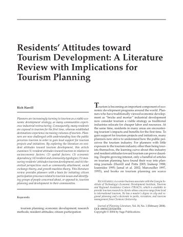 the attitude of residents toward tourism tourism essay Moreover, set postulates that resident attitudes toward tourism  emotion,  reason, and tradition: essays on the social, political and economic.