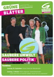 Wahlaussendung der GRÜNEN & Unabh. Jennersdorf