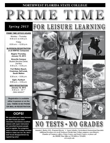 for leisure learning no tests • no grades - Northwest Florida State ...