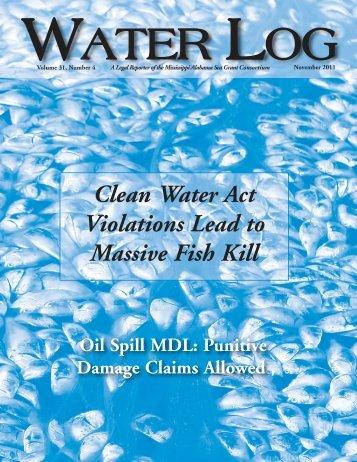 Water Log 31.4 in pdf - Mississippi-Alabama Sea Grant Legal Program