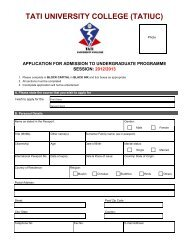 TATIUC Admission Form for Session 2012/2013 - TATIUC Website