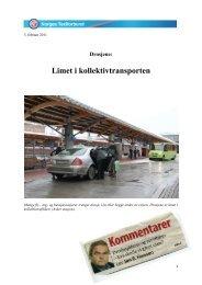 Limet i kollektivtrafikken - Norges Taxiforbund