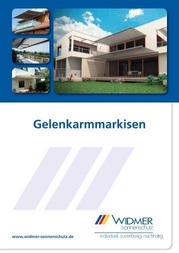 Gelenkarmmarkisen - Oskar Widmer GmbH