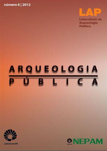 Revista Eletrônica de Arguiologia Pública - Nepam - Unicamp