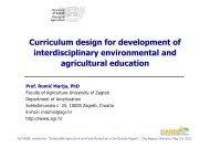 Curriculum design for development of interdisciplinary ...