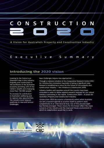 C2020 Vision Report Executive Summary - Construction Innovation