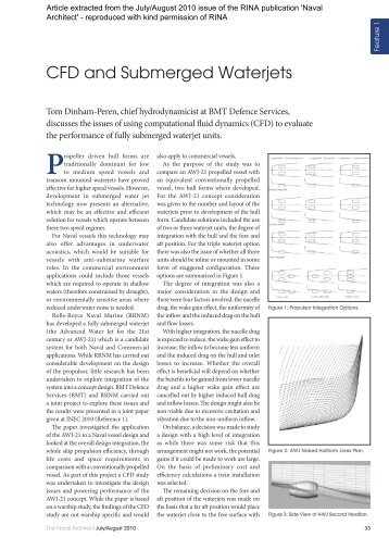 BMT CFD and Submerged Waterjets Jul10 Press Clipping
