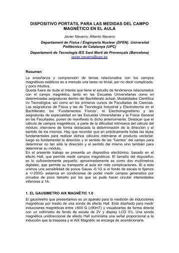 dispositivo portatil para las medidas del campo magnético en ... - UPC