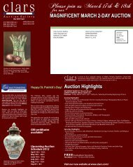 MAGNIFICENT MARCH 2-DAY AUCTION Auction Highlights
