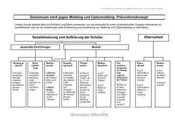Gemeinsam stark gegen Mobbing - Gymnasium Allermöhe