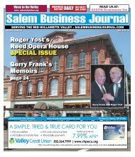 Aug 2013 - Salem Business Journal