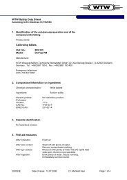 WTW Safety Data Sheet - Wenk Lab Tec