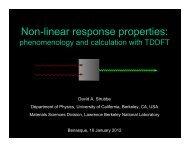 Non-linear response properties: - TDDFT.org