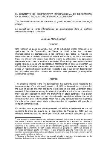 EL CONTRATO DE COMPRAVENTA ... - ASADIP.org