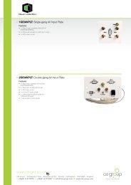 / 1GEIAVPLT: Single-gang AV Input Plate / 2GEIAVPLT ... - CIE-Group
