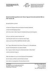 Eröffnung der 3. Berner Tagung für Informationssicherheit - ISSS