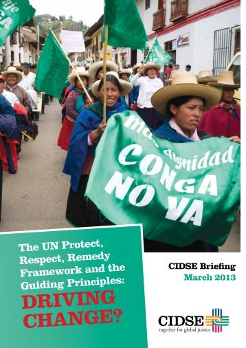 UN Framework & Guiding Principles driving change March ... - Cafod