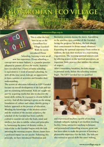 Govardhan Eco Village Newsletter - ebooks - ISKCON desire tree