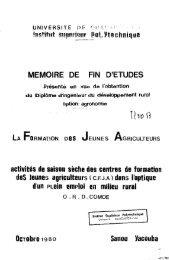 La Formation des jeunes agriculteurs : activités de saison ... - BEEP