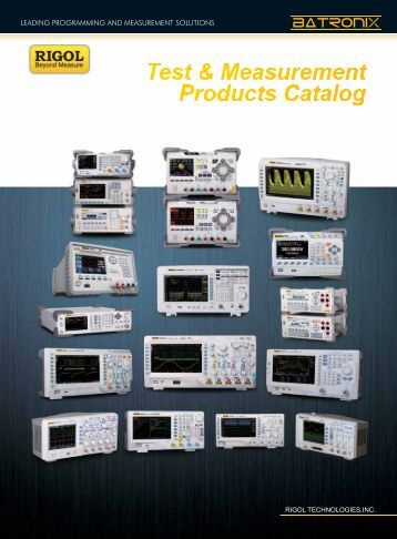 Rigol product catalog - Batronix