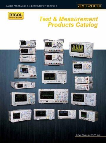 Rigol product catalog - Batronix