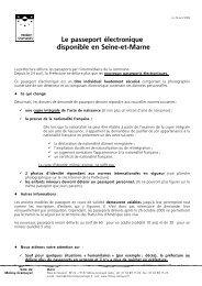 Le passeport électronique disponible en Seine-et-Marne