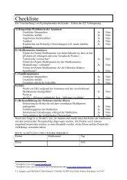 Checkliste - Psychoforum.de