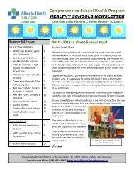 Healthy Schools Newsletter Summer 2012 - Wolf Creek Public ...