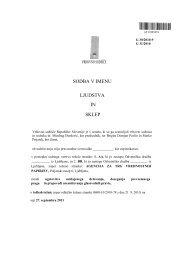 sodba in sklep - Agencija za trg vrednostnih papirjev